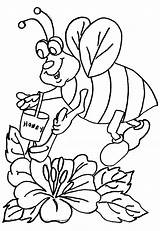 Coloring Pages Bee Honey Printable Printables sketch template