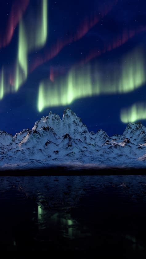 stock images northern lights mountains  stock images