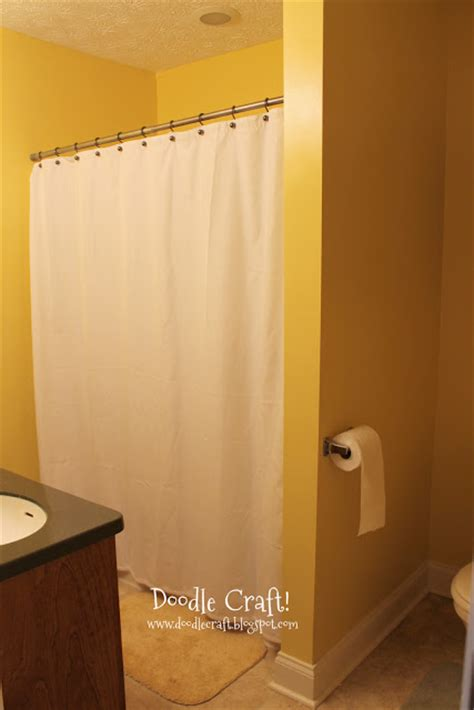 Yellow Gray And Teal Bathroom by Doodlecraft Stencil A Shower Curtain With Cutting Edge