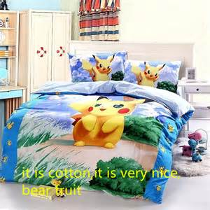 aliexpress com buy cotton pokemon cartoon bedding set
