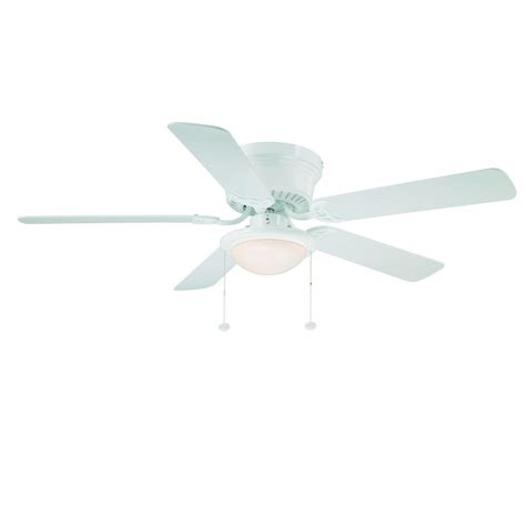 Low Profile Ceiling Fans Home Depot by Hton Bay Hugger 52 Ceiling Fan White Flush Mount Low