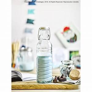 Grand Bocal Verre : 1 bocal rond 500 ml en verre avec bouchon en li ge gamme ~ Premium-room.com Idées de Décoration