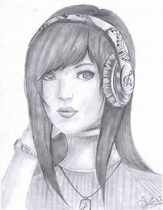Girl With Headphones by mangafox23 on DeviantArt