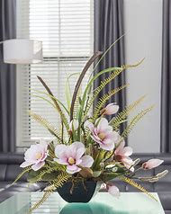 Magnolia Silk Flower Arrangement