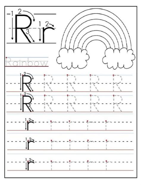 Free Printable Letter R Worksheets For Kindergarten & Preschool