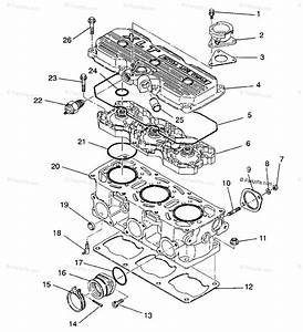 Polaris Snowmobile 1993 Oem Parts Diagram For Cylinder Assembly Xlt  0930767 Xlt Sp  0930667  U0026 Xlt