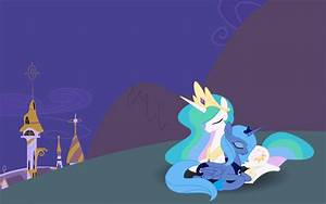 Celestia and Luna Wallpaper by SnowflamePony on DeviantArt