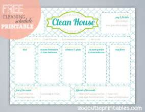 Free Printable House Cleaning Schedule