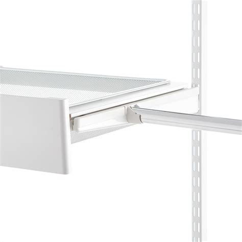 closet bar holder white elfa bracket cover closet rod holder the