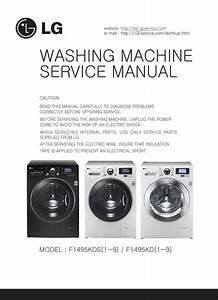 Lg F1495kds6 F1495kd F1495kds Washing Machine Service