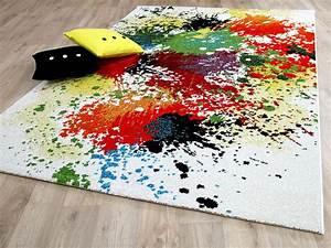 Teppich Bunt Modern : designer teppich funky splash bunt teppiche designerteppiche funky teppiche ~ Frokenaadalensverden.com Haus und Dekorationen