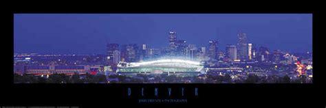 Panorama Denver City Stadium Skyline Prints Photos