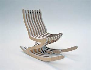 Modern Rocking Chair for Young People – Skeleton Rocker
