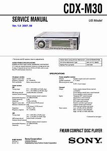 Sony Cdx Gt340 Mp3  Wma Player Cd Receiver Wiring Diagram