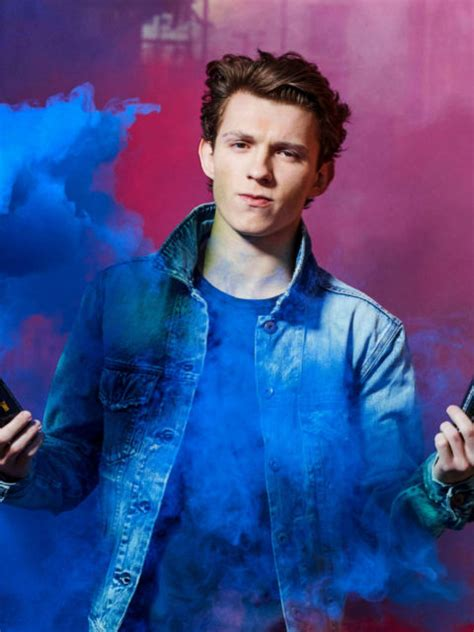 tom holland color fire  hd wallpapers