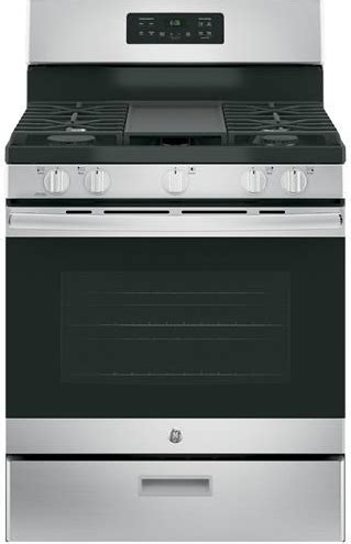 """JGBS66REKSS GE 30"""" Free Standing Gas Range with Edge to"""