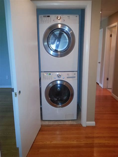 stackable washer and dryer closet home design ideas