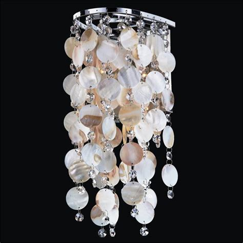 oyster shell sconces with ensconced 611 glow