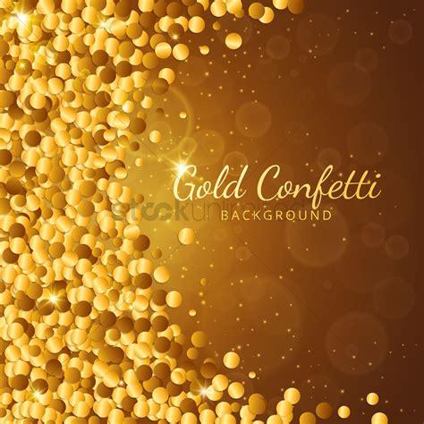 Gold Confetti Background Gold Confetti Background Vector Image 1807948