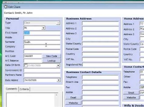 expd address book legal case management software youtube