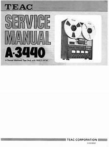 Teac A-3440 Reel Tape Recorder Service Manual