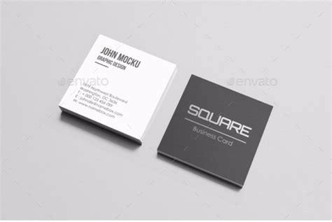 Square Business Cards Mockup Free