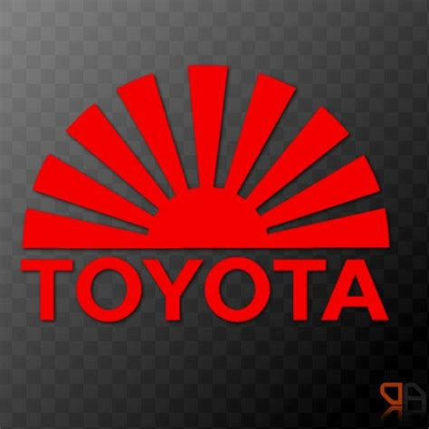 toyota rising sun arc vinyl decal sticker jdm drifting