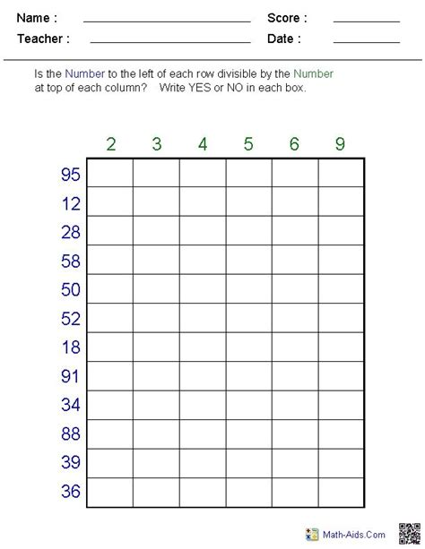dividing decimals worksheets math aids maths aid