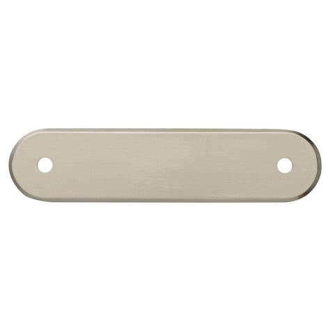 liberty   satin nickel oval drawer pull backplate pc sn   home depot