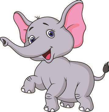vector cartoon elephant drawing  vector