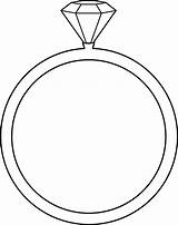 Ring Diamond Clipart Clip Coloring sketch template
