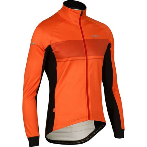orange cycling jacket wiggle dhb classic windproof thermal softshell jacket