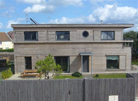 construction maison bois contemporaine maison bois contemporaine moderne mpc construction normandie