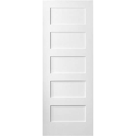doors interior home depot masonite 36 in x 80 in mdf series smooth 5 panel equal
