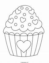 Coloring Heart Cupcake Sprinkles Pages Mombrite Templates Printable Cupcakes Valentine Give Kid Friend Sheet sketch template