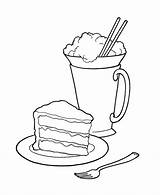 Eiscreme Torte Colouring Bluebonkers Coloringhome Bestcoloringpagesforkids sketch template