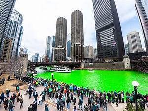celebrating st s day in chicago river dyeing