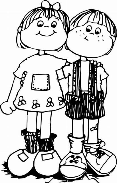 Coloring Hug Children Pages Printable