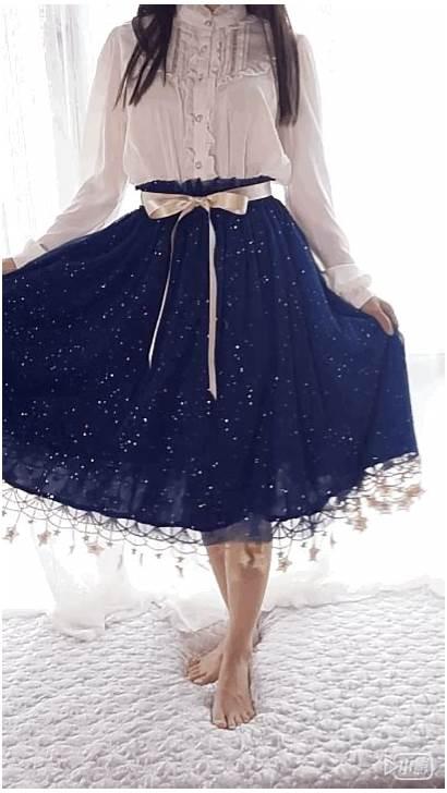 Under Night Skirt Lolita Sweet Starry Underskirt