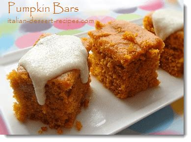pumpkin bars with ricotta cheese frosting