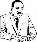 Coloring Luther Martin King Jr Pages Dr Drawing Silhouette Mlk Printable Cartoon Sheet Children Getcolorings Getdrawings Clipartmag Popular Colorings sketch template