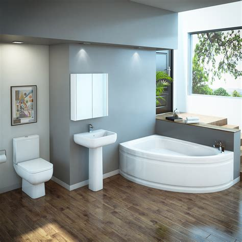 rak series  bathroom suite  orlando corner bath