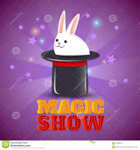Magic Hat Trick Show Background Poster Stock Vector ...