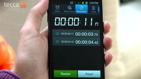 show      android phone   stopwatch