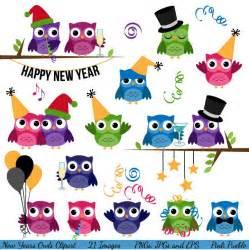 Happy New Year Owl Clip Art