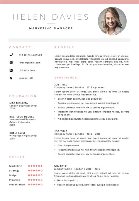 Resume And Cv Templates by Cv Template Go Sumo Cv Templates Resume