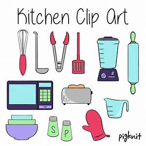 The Kitchen clipart kitchen equipment - Pencil and in ...