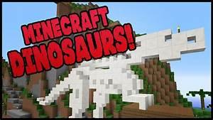 Minecraft Dinosaurs! || 500 || EPIC DINOSAUR STATUE! - YouTube