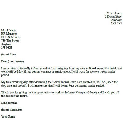 bookkeeper resignation letter  toresigncom