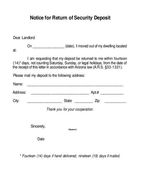 sle security deposit receipt form 8 free documents